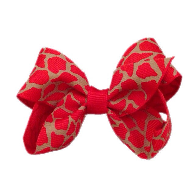 Medium Giraffe Bow - Orange