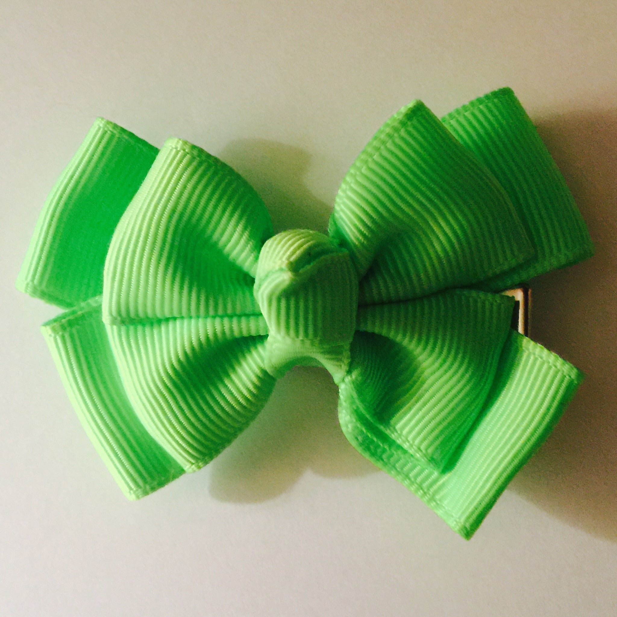 Small Hair Bow - Neon Lime - Cutie Bowtutie