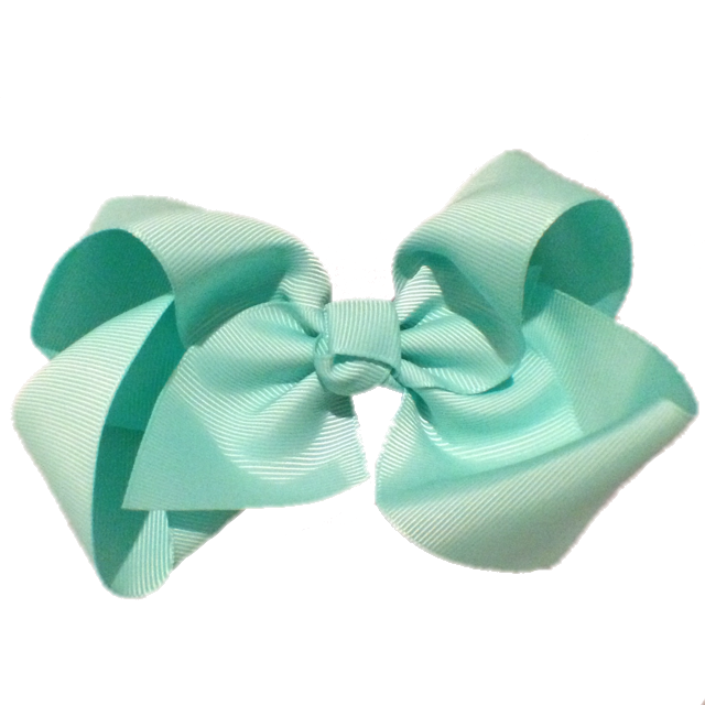 Jumbo Hair Bow - Aquamarine