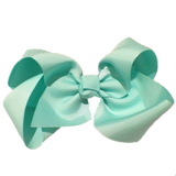 Jumbo Hair Bow - Mermaid Blue - Cutie Bowtutie