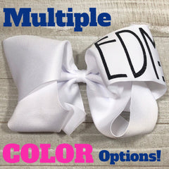 Monogram Hair Bows - Gigantic