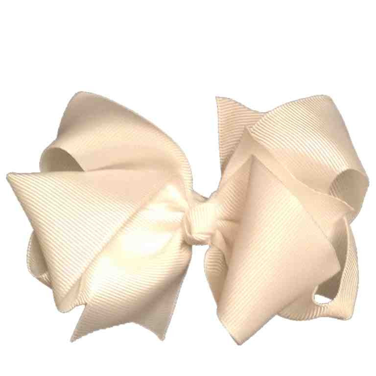Big Double Layer Bow - White