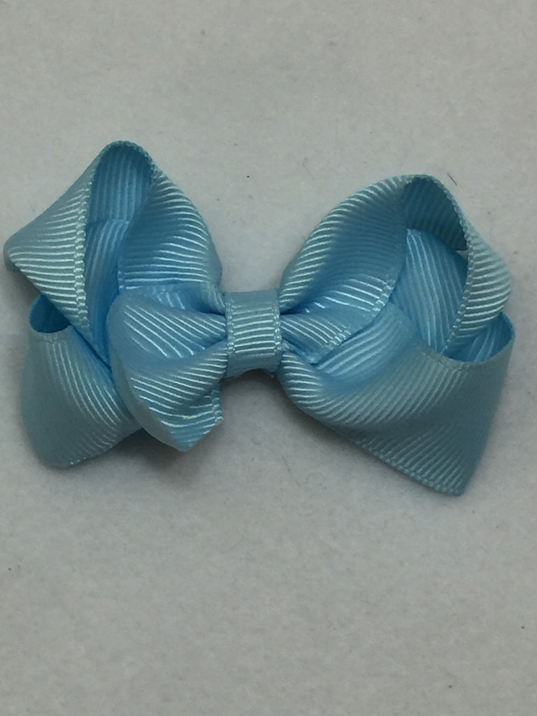 Small Hair Bow - Light Blue