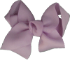 Large Hair Bow - Lavender Polka