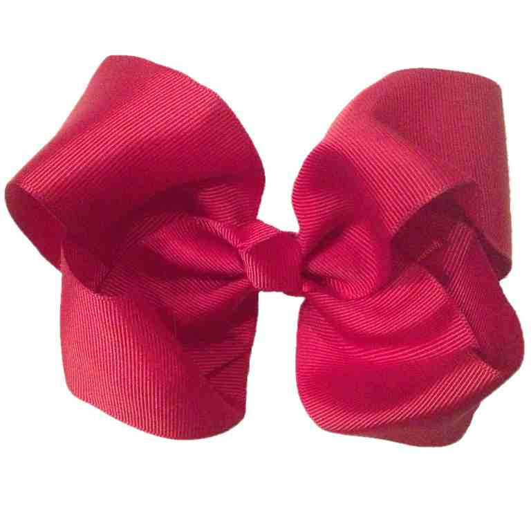 Jumbo Hair Bow - Burgundy