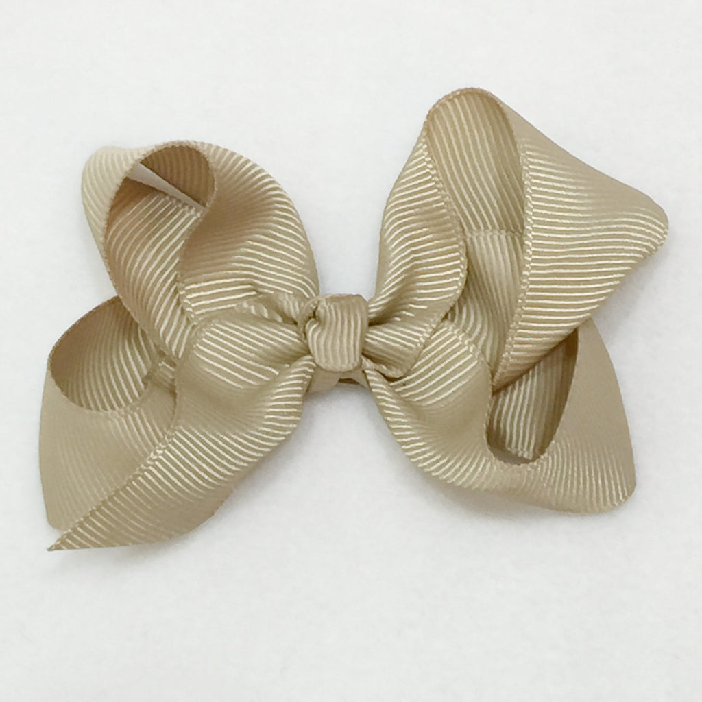 Medium Hair Bow - Tan