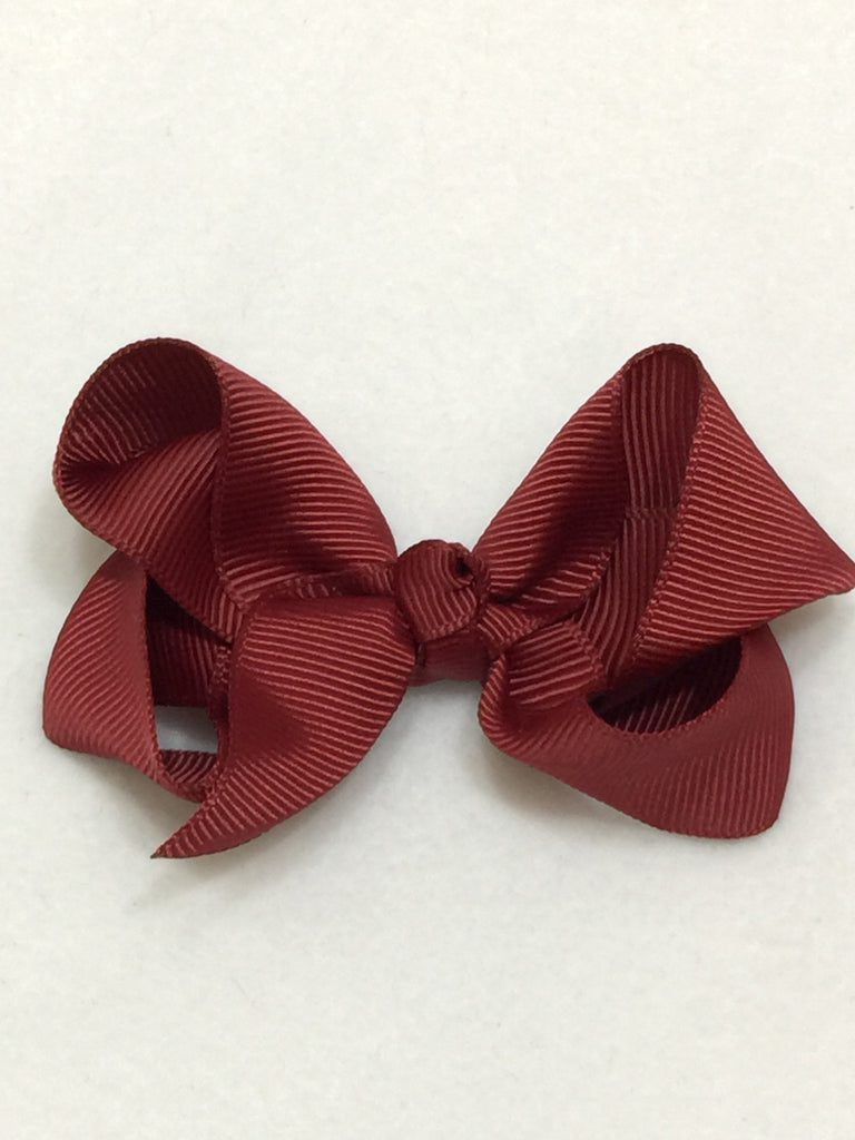 Medium HairBow - Burgundy