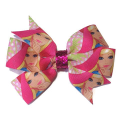 Medium Barbie Hair Bow - Polka - Cutie Bowtutie