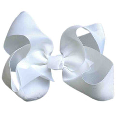 Jumbo Hair Bow - White