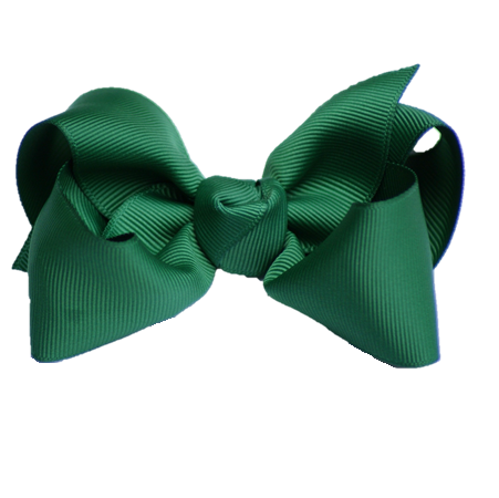 Large Hair Bow - Hunter Green Knot - Cutie Bowtutie