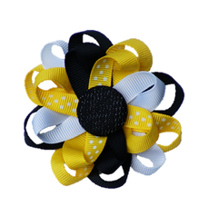 Button Bow Black & Yellow - Cutie Bowtutie