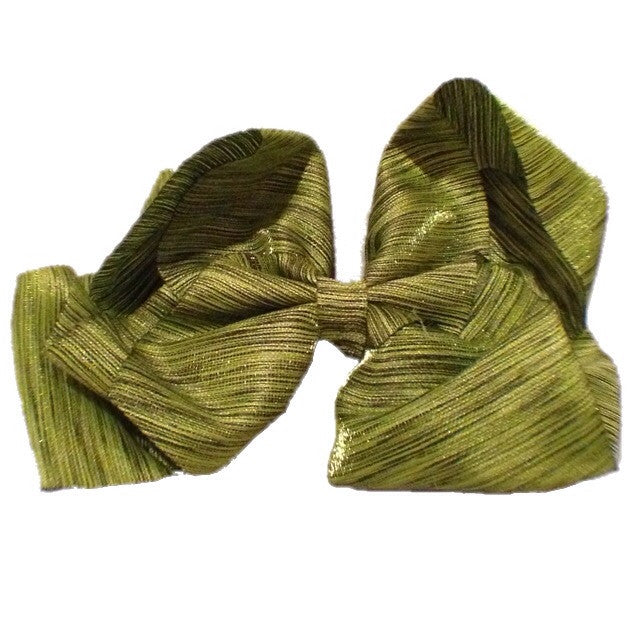 Jumbo Hair Bow - Shimmery Olive - Cutie Bowtutie