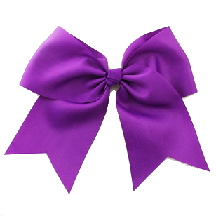 Cheer Bow - Bright Purple
