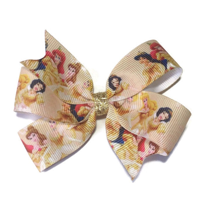 Medium Princess Hair Bow - Gold - Cutie Bowtutie