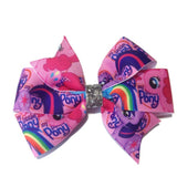 Medium My Little Pony Hair Bow - Pink - Cutie Bowtutie
