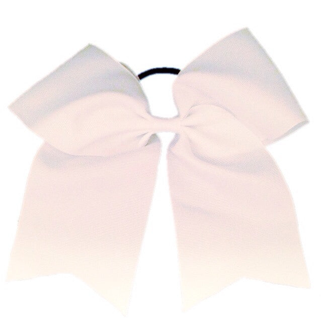 Cheer Bow - White - Cutie Bowtutie
