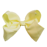 Jumbo Hair Bow - Pale Yellow - Cutie Bowtutie