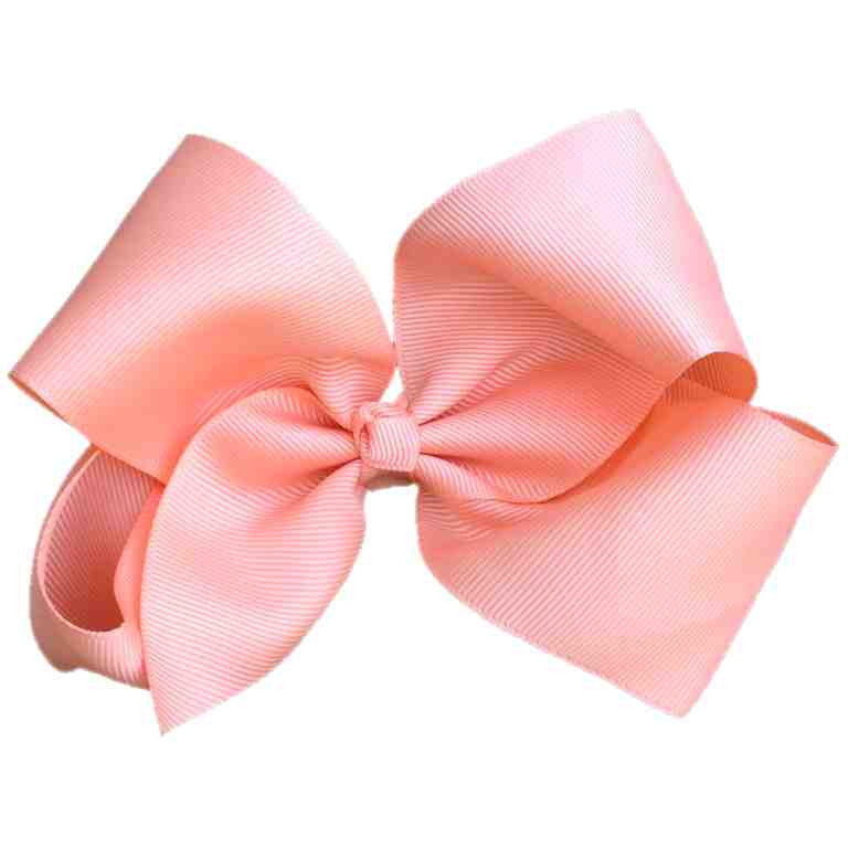Jumbo Hair Bow - Pale Orange/Peach - Cutie Bowtutie