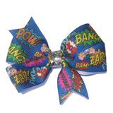 Medium Comic Hair Bow - Cutie Bowtutie