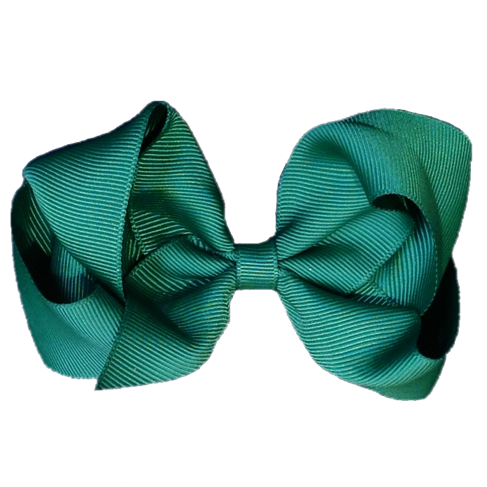 Large Hair Bow - Hunter Green - Cutie Bowtutie