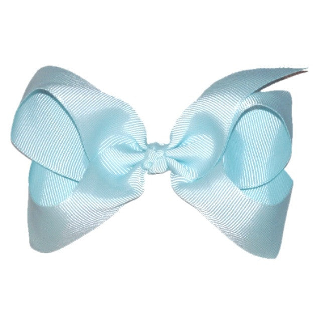 Large Hair Bow - Aqua 4.5 - Cutie Bowtutie