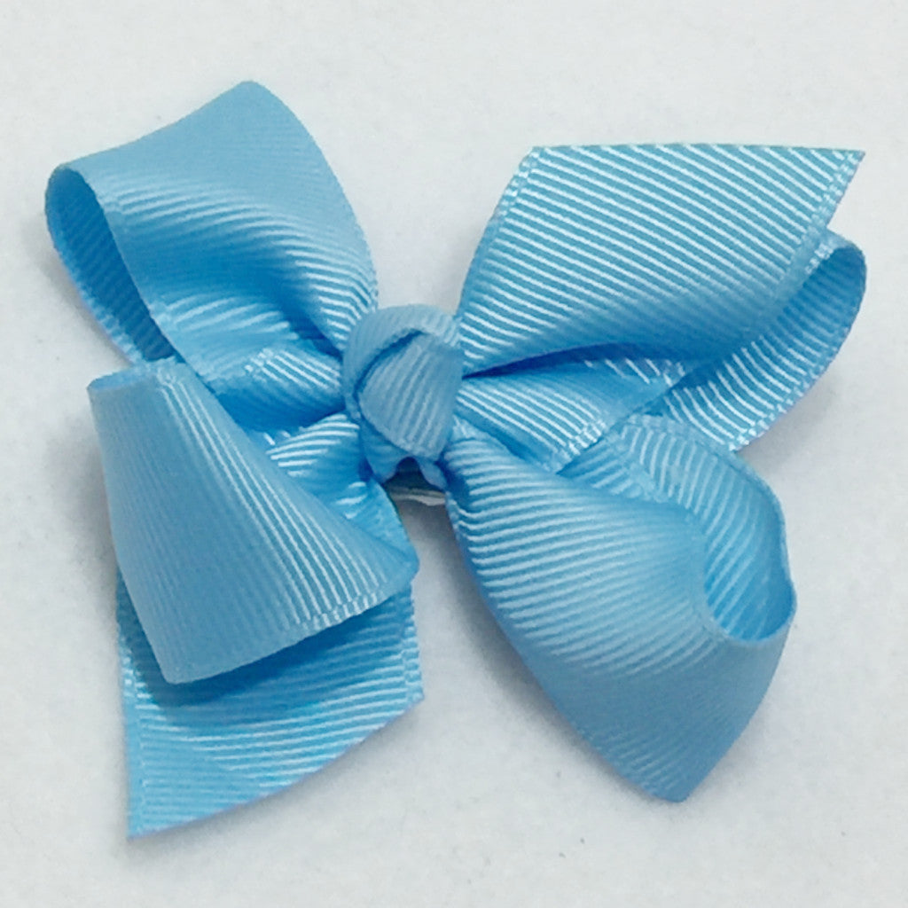 Small Hair Bow - Sky Blue