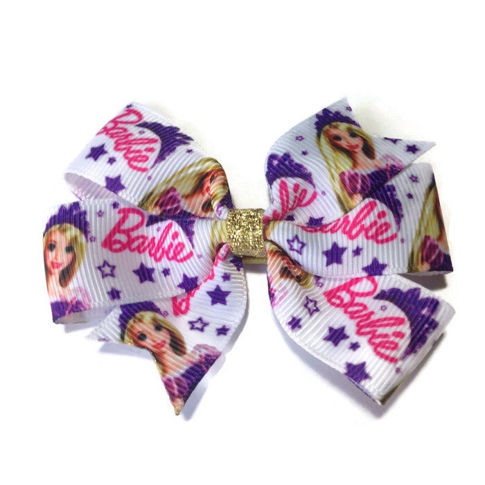 Medium Barbie Hair Bow - Star - Cutie Bowtutie