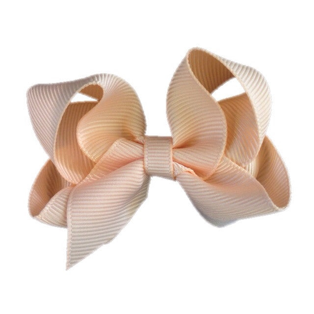 Small Hair Bow - Peach