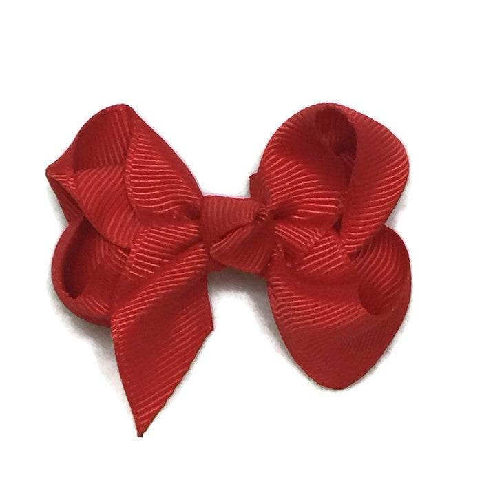 Small Classic Hair Bow - Red - Cutie Bowtutie