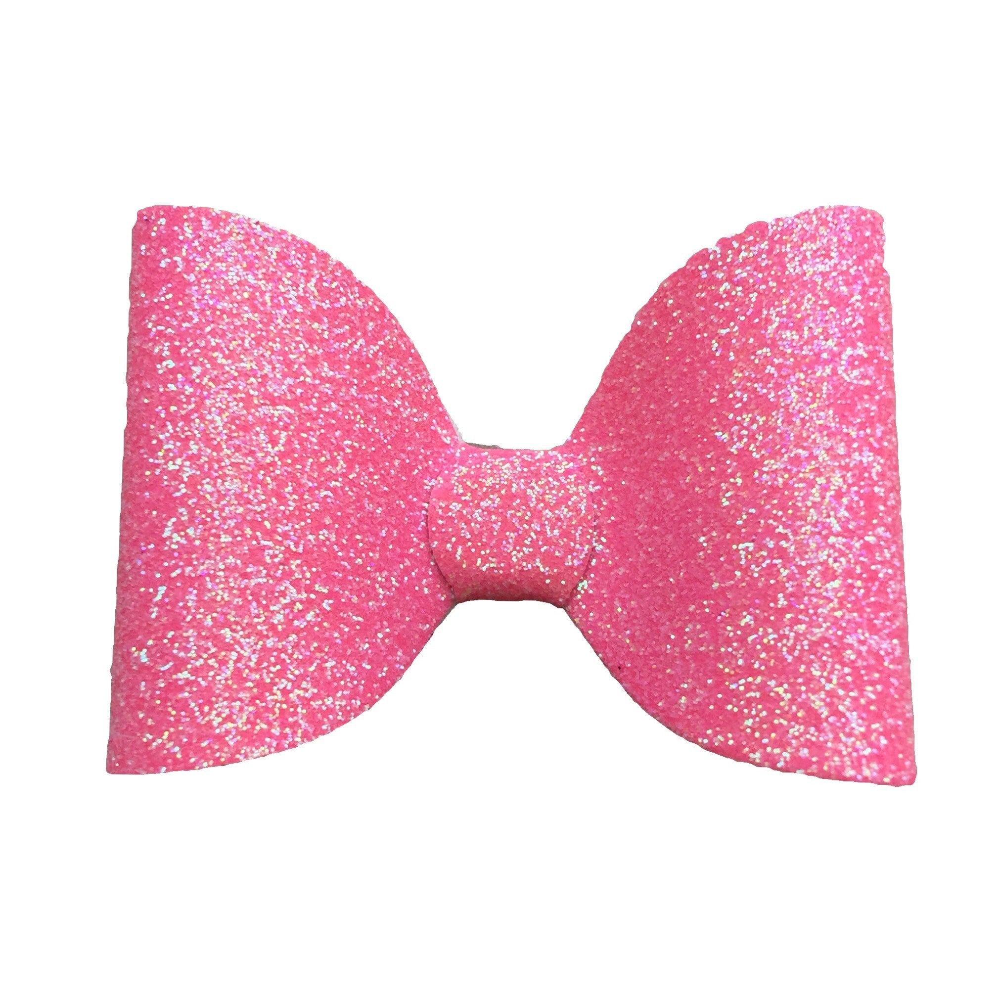 Medium Glitter Hair Bow - Pink - Cutie Bowtutie