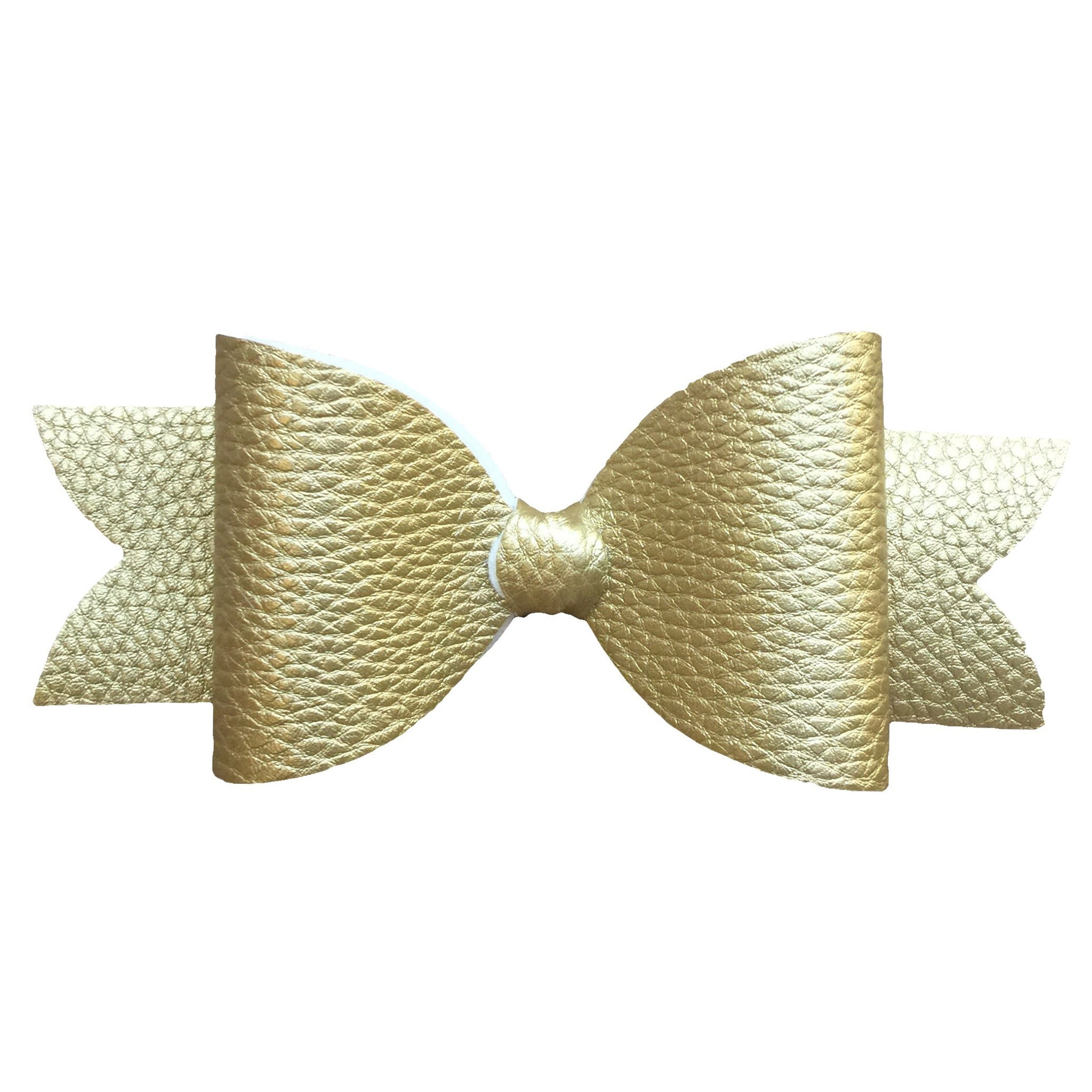 Faux Leather Gold Bow - Cutie Bowtutie