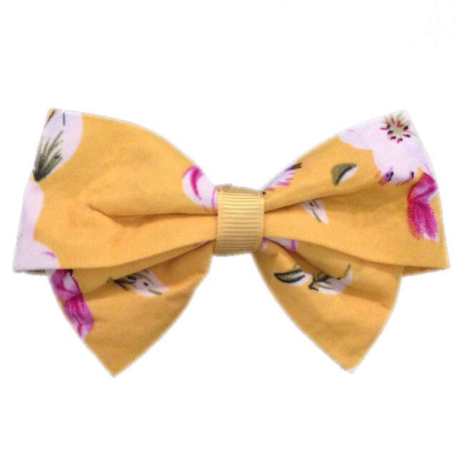 Medium Tropical Bow - Yellow - Cutie Bowtutie