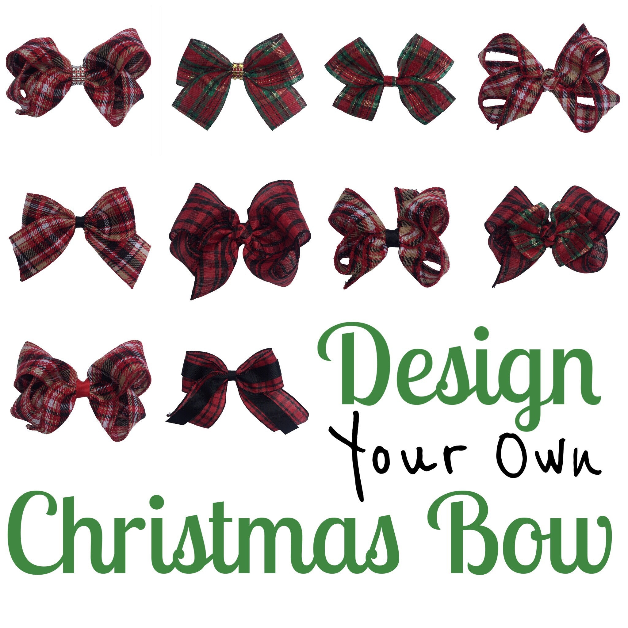 Design A Christmas Bow- CHEER Bow - Cutie Bowtutie