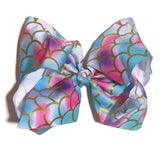 Gigantic Hair Bow - Rainbow Mermaid - Cutie Bowtutie
