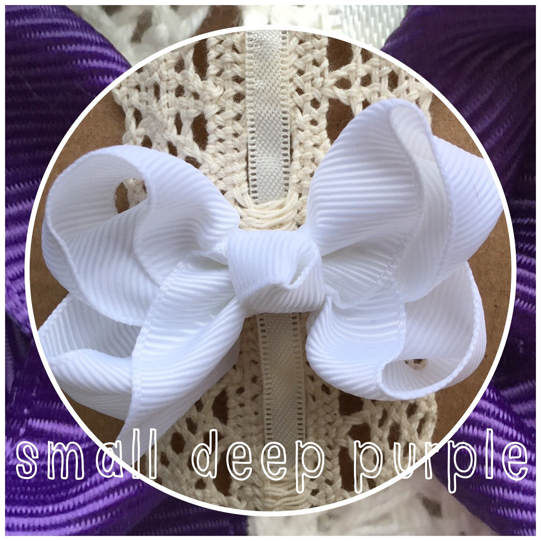 Small Classic Hair Bow - Deep Purple - Cutie Bowtutie
