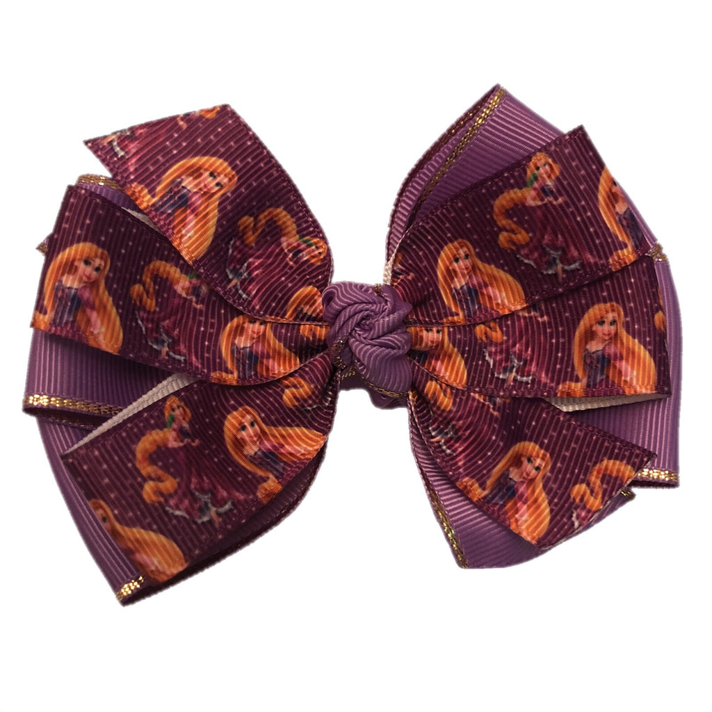 Large Character Hair Bow -  Rapunzel
