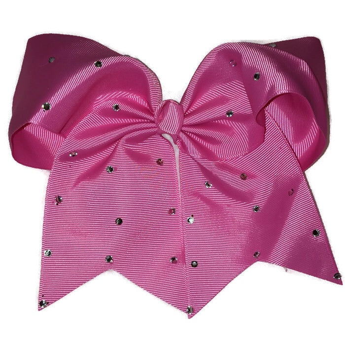 Cheer Bow - Hot Pink Rhinestone