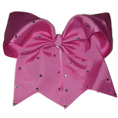Cheer Bow - Hot Pink Rhinestone - Cutie Bowtutie
