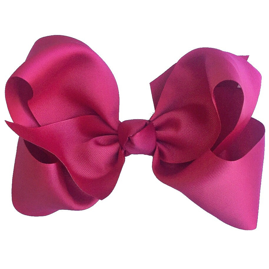 Gigantic Hair Bow - Burgundy