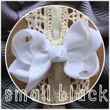 Small Classic Hair Bow - Black - Cutie Bowtutie