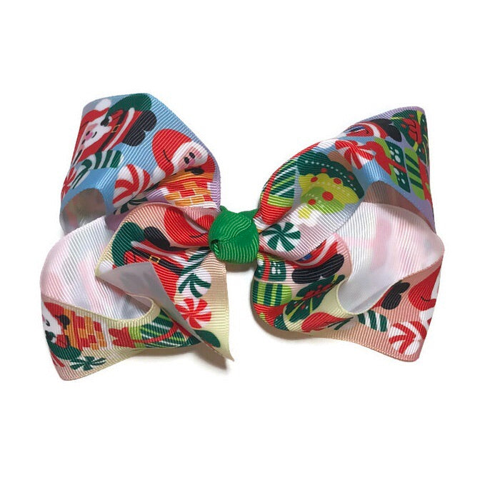 Jumbo Hair Bow - Christmas