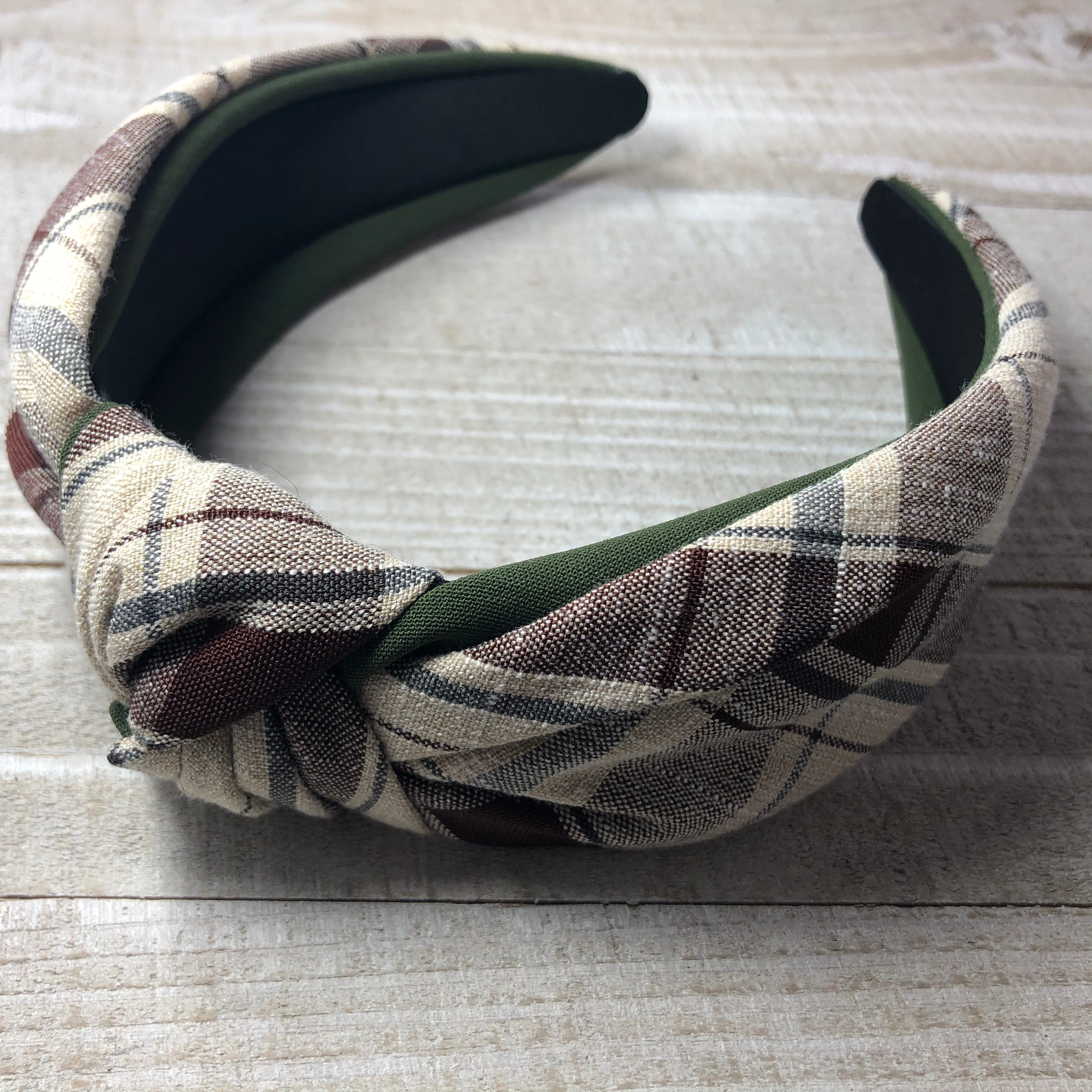 Plaid Knot Headband - Cutie Bowtutie