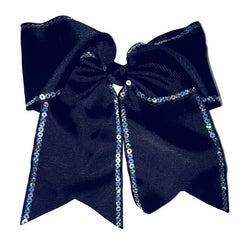Cheer Bow - Black Sequin