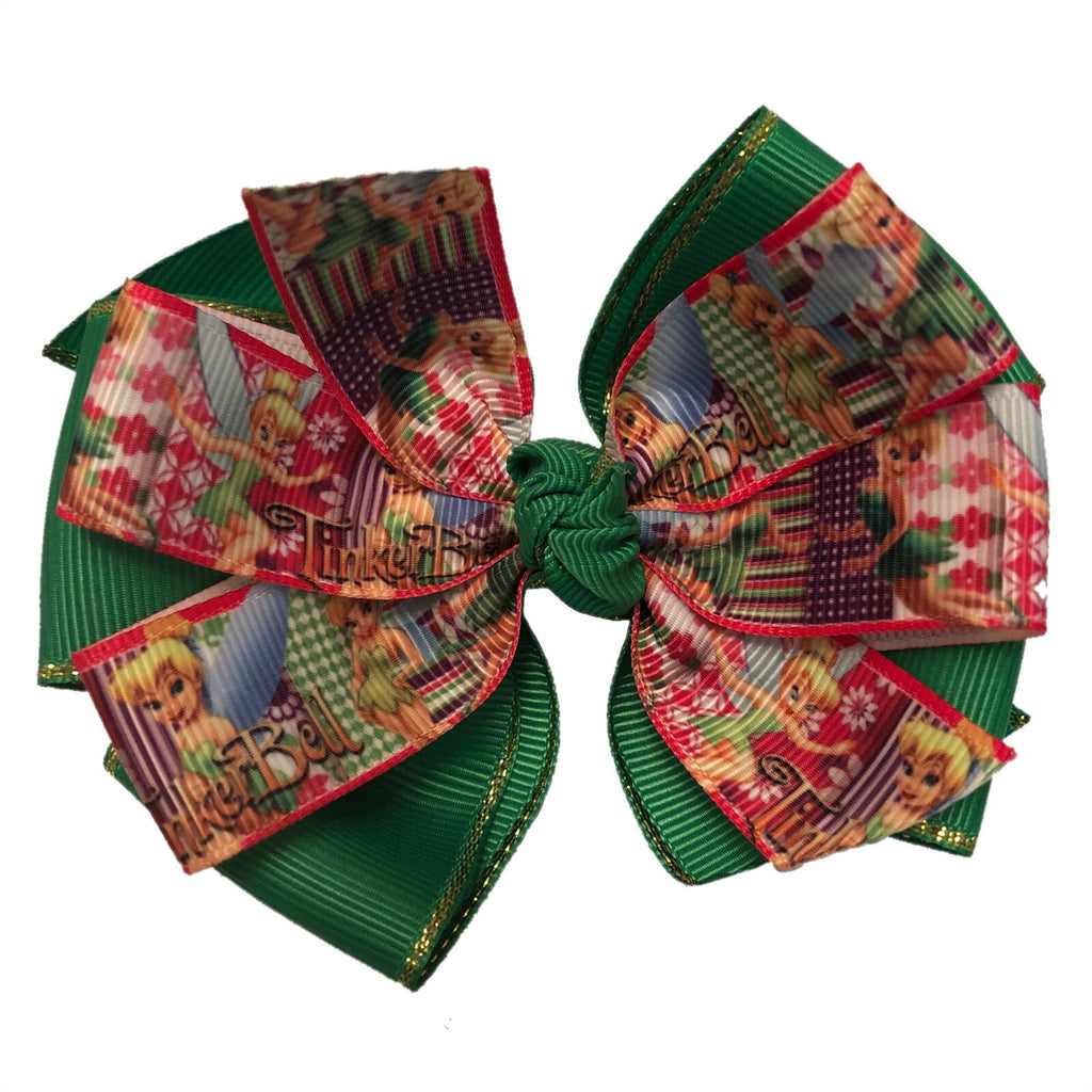Large Character Hair Bow - Tinker Bell