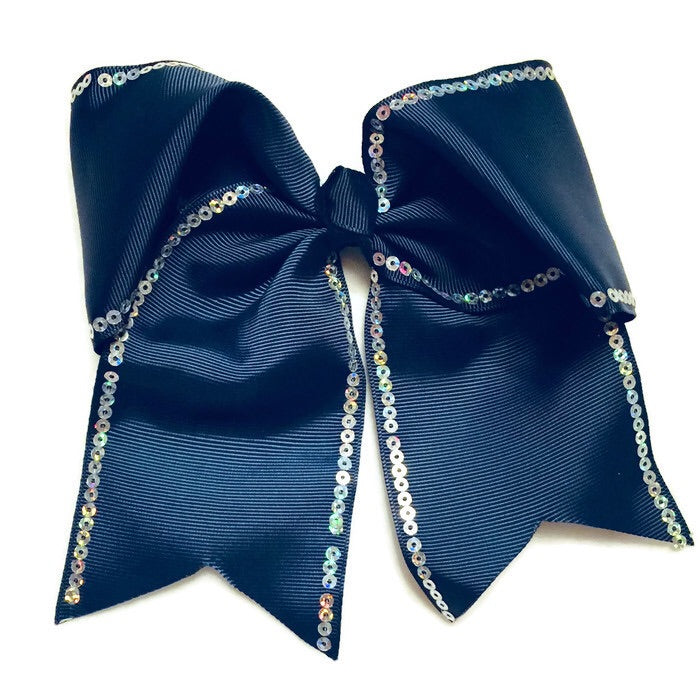 Cheer Bow - Blue Sequin