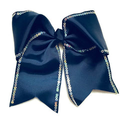 Cheer Bow - Blue Sequin - Cutie Bowtutie