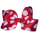 Jumbo Hair Bow - Red Large Polka - Cutie Bowtutie