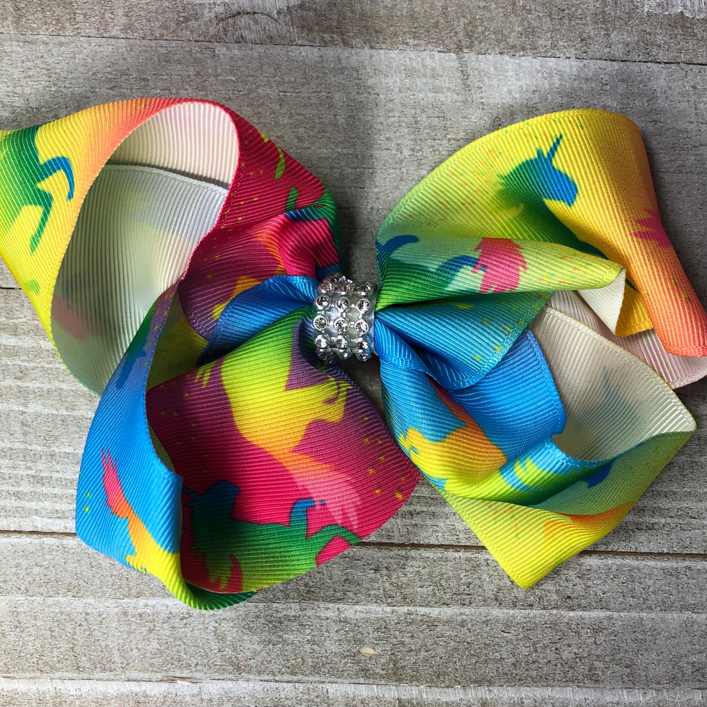 Jumbo Unicorn Silhouette Hair Bow