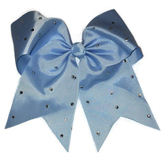 Cheer Bow - Light Blue Rhinestone - Cutie Bowtutie