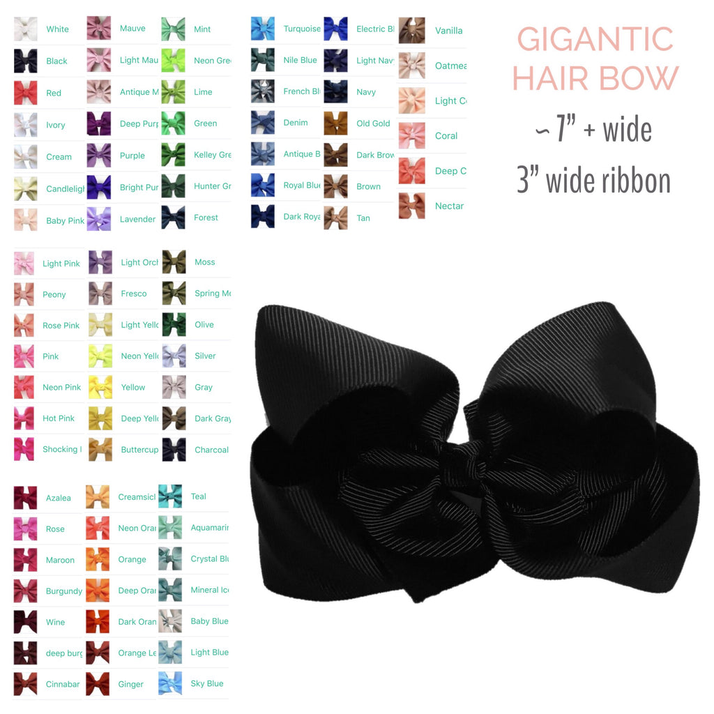 Hair Bow by Color - Gigantic